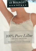 Top Le Bourget Pure laine bretelle fine